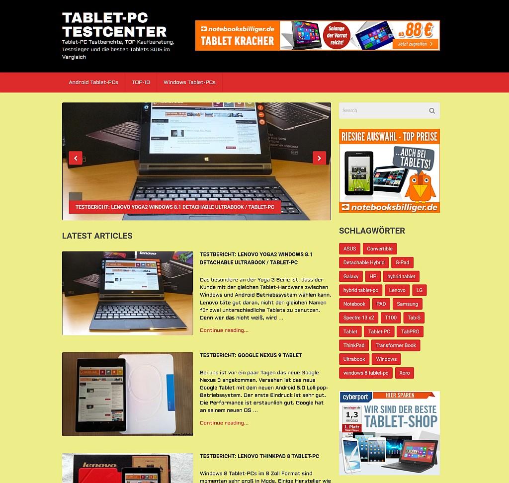 Tablet-PC-Testcenter